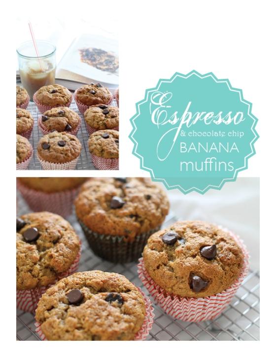 Espresso & Chocolate Chip Banana Muffins